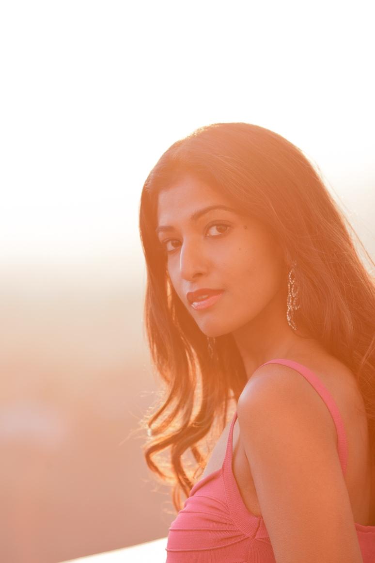 Miss India International 2011 Préity Üupala Griffith Observatory at Night at Sunset