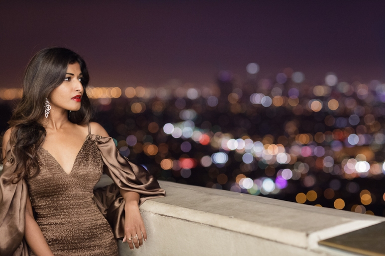 Miss India International 2011 Préity Üupala Griffith Observatory at Night