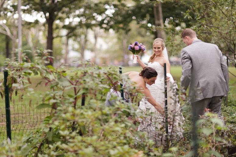 Brooklyn New York Wedding Photographer Bride and Groom in Brooklyn Park