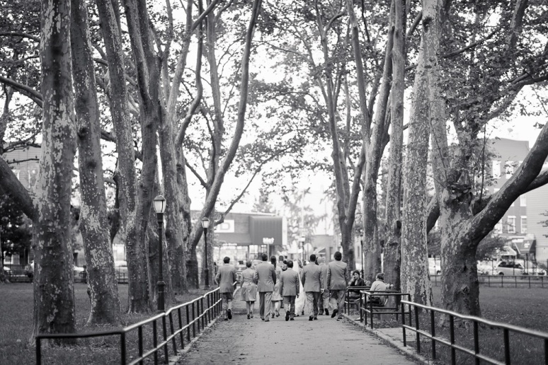 Brooklyn New York Wedding Photographer Wedding Party in Brooklyn Park