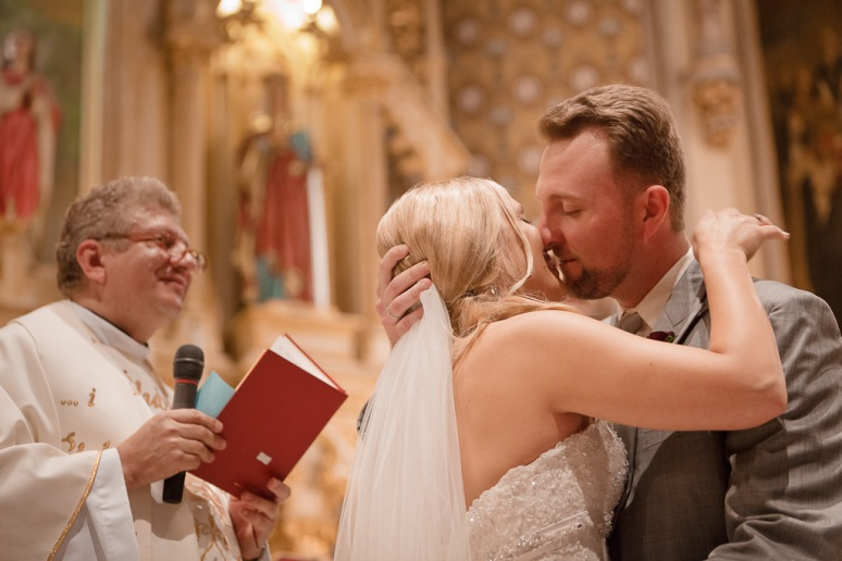 Brooklyn New York Wedding Photographer Manhattan Bridge Bride and Groom Kissing