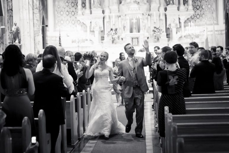 Brooklyn New York Wedding Photographer Manhattan Bridge bride and Groom at Church