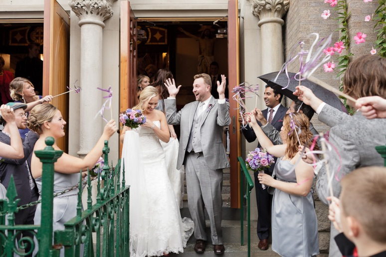 Brooklyn New York Wedding Photographer Manhattan Bridge Bride and Groom at Church