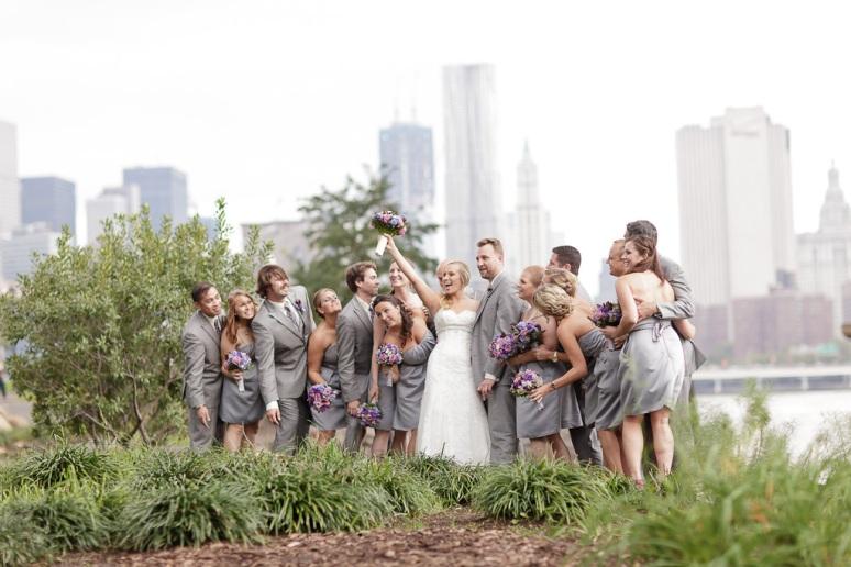 Brooklyn New York Wedding Photographer Wedding Party at Brooklyn Manhattan Bridge