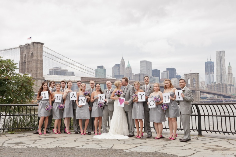 Brooklyn New York Wedding Photographer Stage 6 At Steiner Studios Wedding Party Thank You