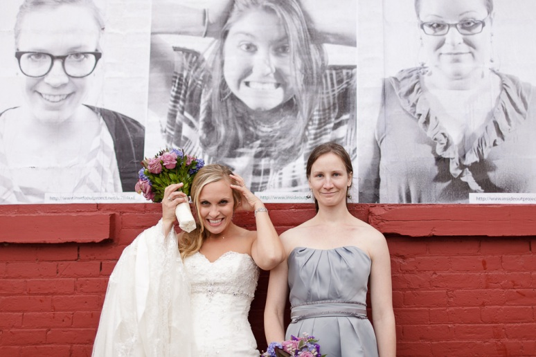 Brooklyn New York Wedding Photographer Stage 6 At Steiner Studios Bride and Bridesmaid