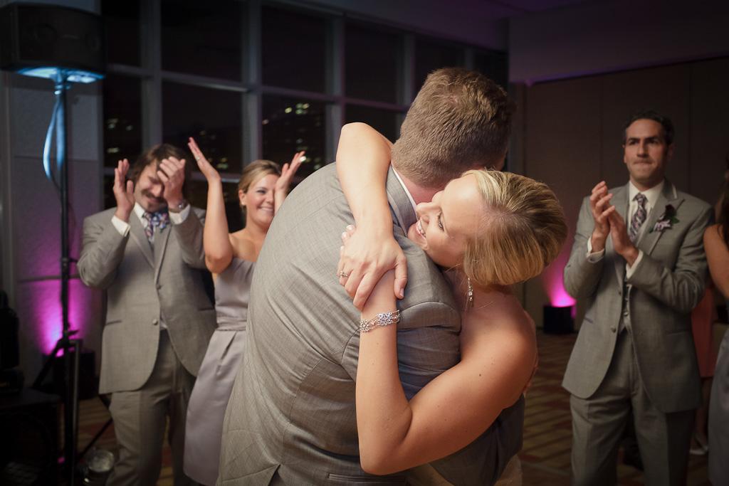 Brooklyn New York Wedding Photographer Stage 6 At Steiner Studios Bride and Groom Hugging