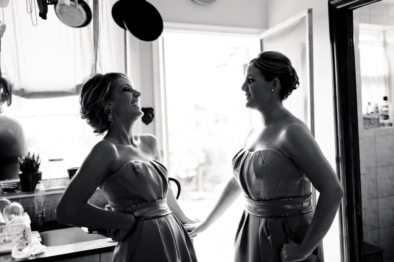 Brooklyn New York Wedding Photographer Bridesmaids Laughing