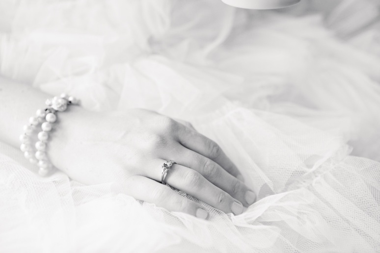 Chileno Valley Ranch Wedding Bride's Ring and Vintage Dress
