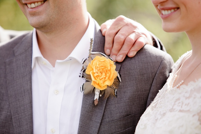 Groom's Boutonniere at a Vintage-Inspired Wedding in Chileno Valley Ranch