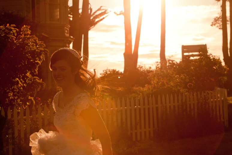 Rustic Vintage Wedding Photographer Bride at Sunset at Chileno Valley Ranch