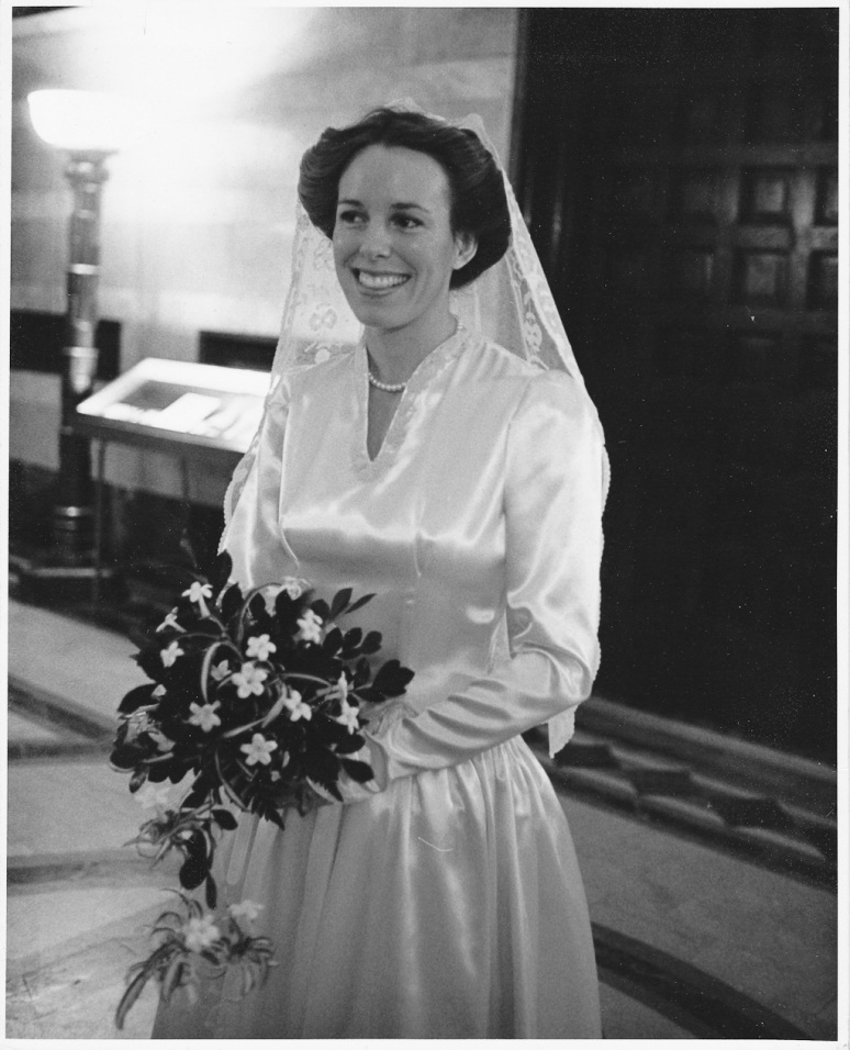 1970s Wedding Photograph of Bride at the Saint Louis Cathedral