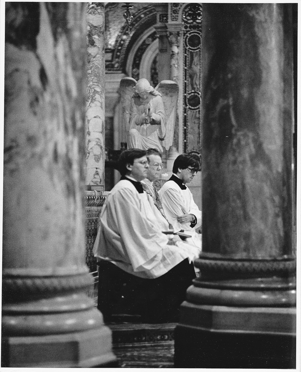 1970s Wedding Photograph of Altar Boy at the Saint Louis Cathedral