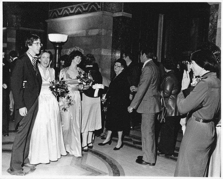 1970s Wedding Photograph of Wedding Party at Saint Louis Cathedral
