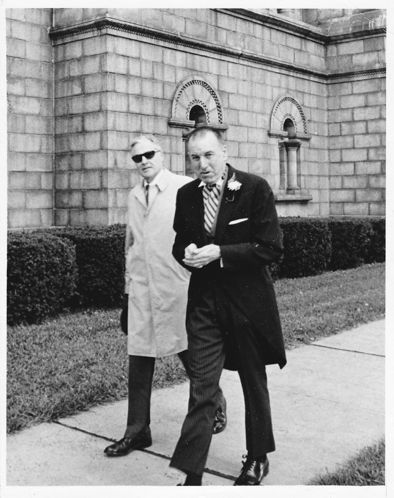 1970s Wedding Photograph of Bride's Father Walking at Saint Louis Cathedral