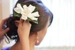 Santa Cruz Wedding Photographer Bride Getting Flower in Her Hair
