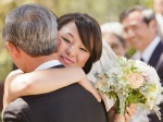 Santa Cruz Wedding Photographer Bride Hugging Her Father