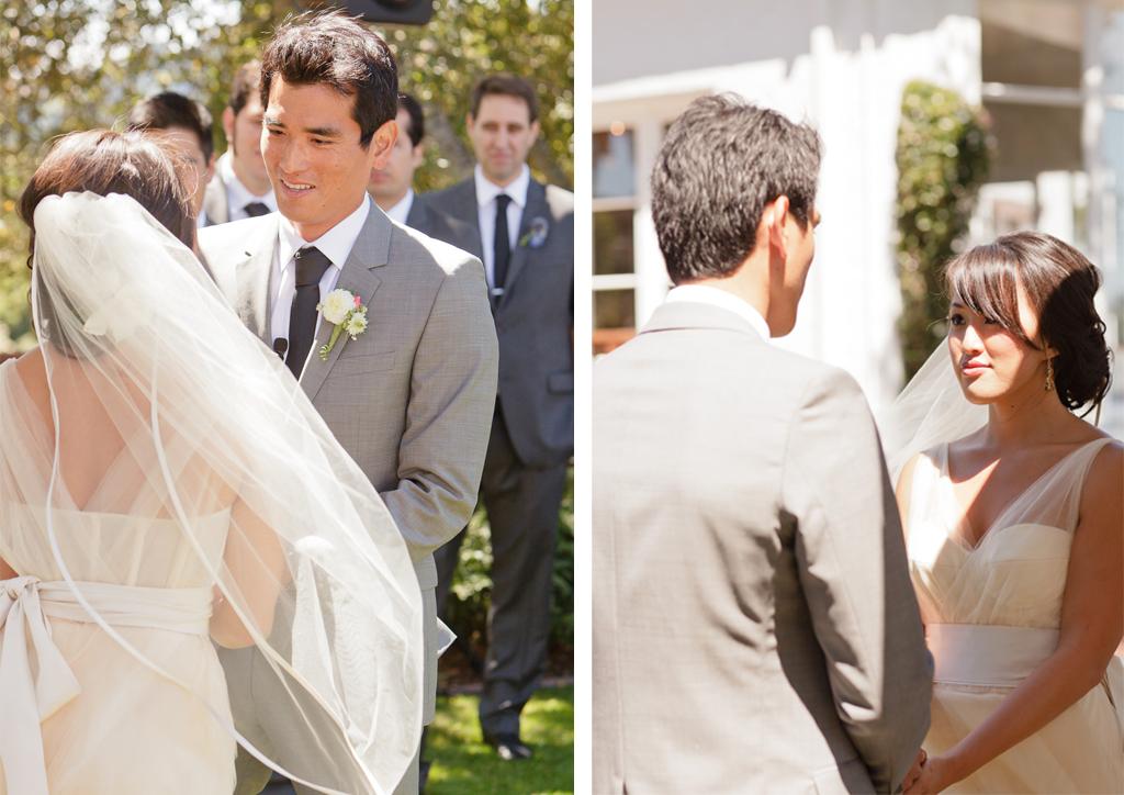 Santa Cruz Wedding Photographer Bride and Groom Exchanging Vows