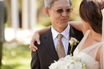 Santa Cruz Wedding Photographer Bride's Father Smiling at Her