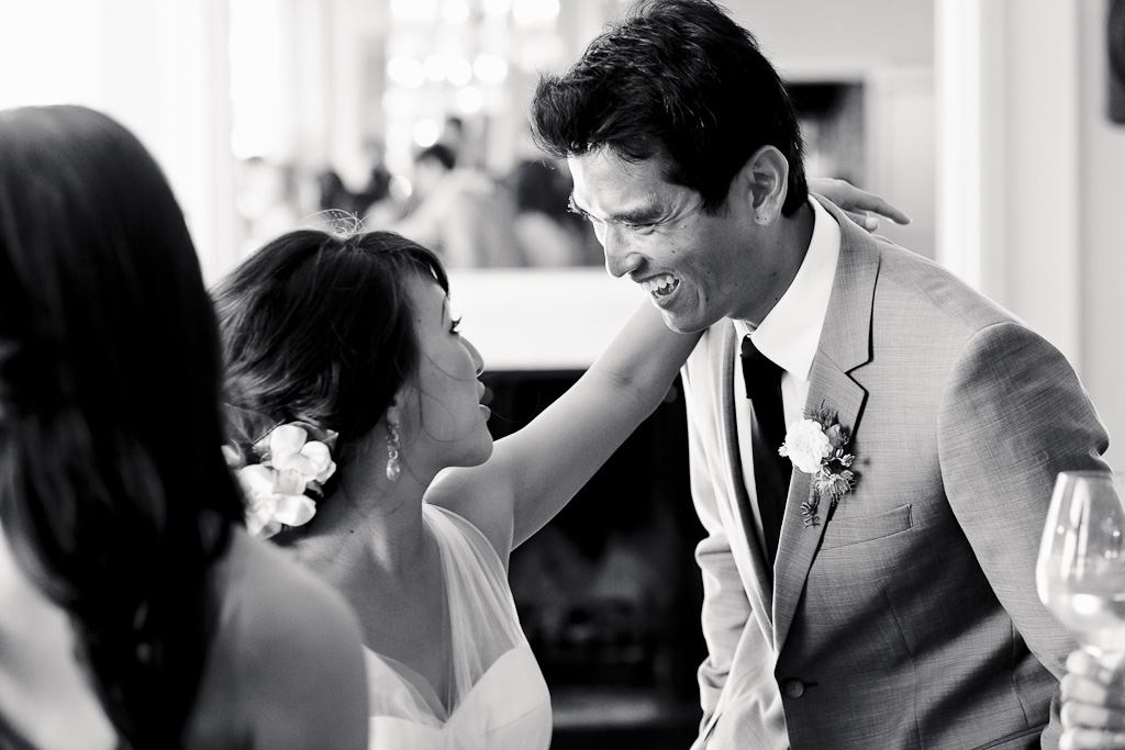 Santa Cruz Wedding Photographer Bride and Groom Laughing