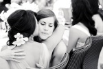 Santa Cruz Wedding Photographer Maid of Honor hugging Bride