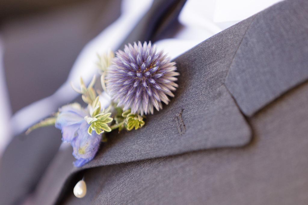 Santa Cruz Wedding Photographer Grooms Lavender Boutineer