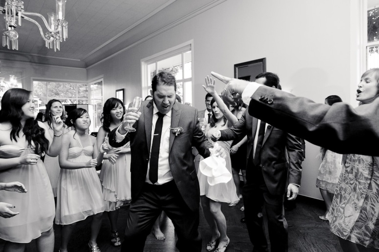Santa Cruz Wedding Photographer Groomsman Dancing