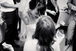 Santa Cruz Wedding Photographer Bride dancing with bridesmaid
