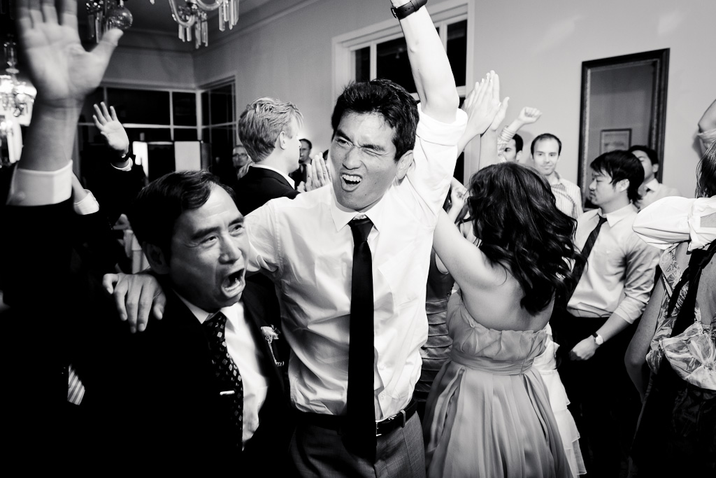 Santa Cruz Wedding Photographer Groom Dancing with his Father