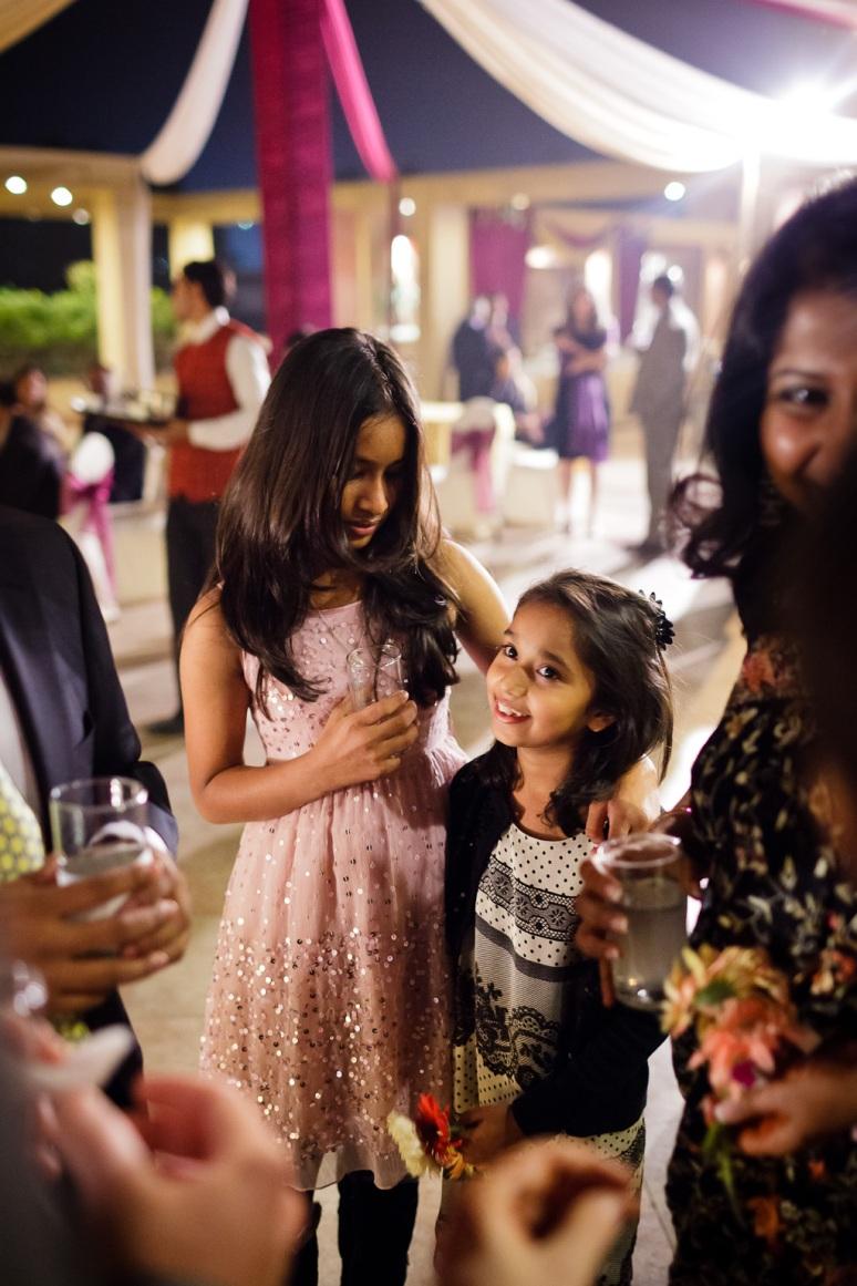 Indian Wedding Photographer New Delhi Wedding Little Girls Playing at Wedding