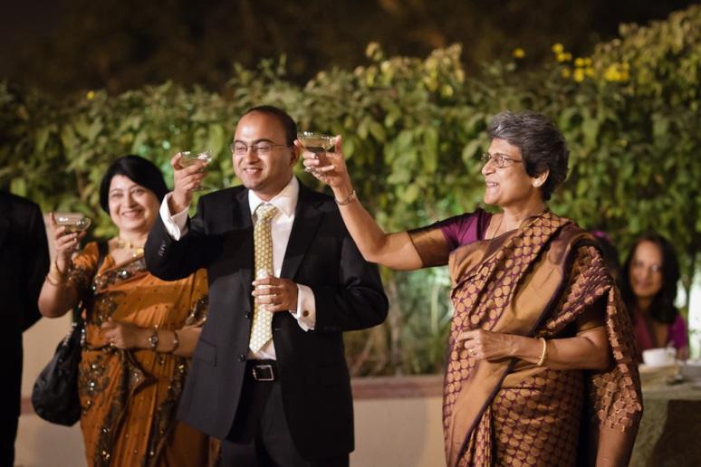Indian Wedding Photographer New Delhi Wedding Groom and Mother Toast