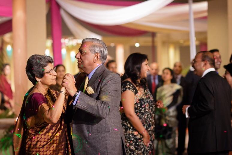 Indian Wedding Photographer New Delhi Wedding Bride's Parents Dancing