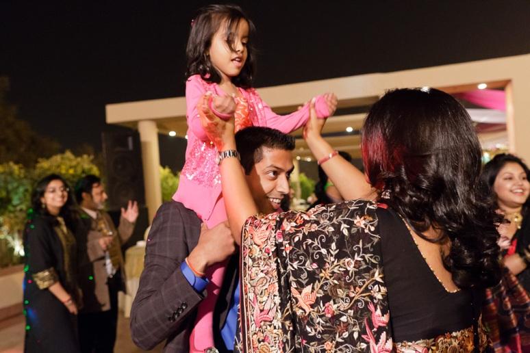 Indian Wedding Photographer New Delhi Wedding Guests Dancing