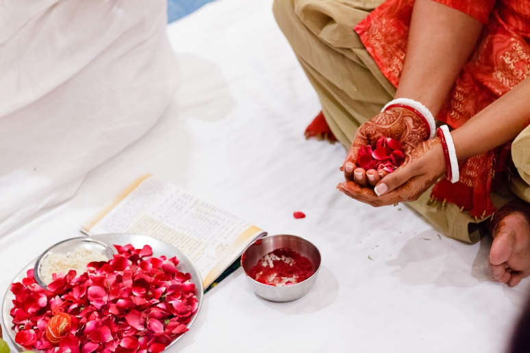 Indian Wedding Photographer Pooja Tumeric Ceremony Bride's Hands New Delhi