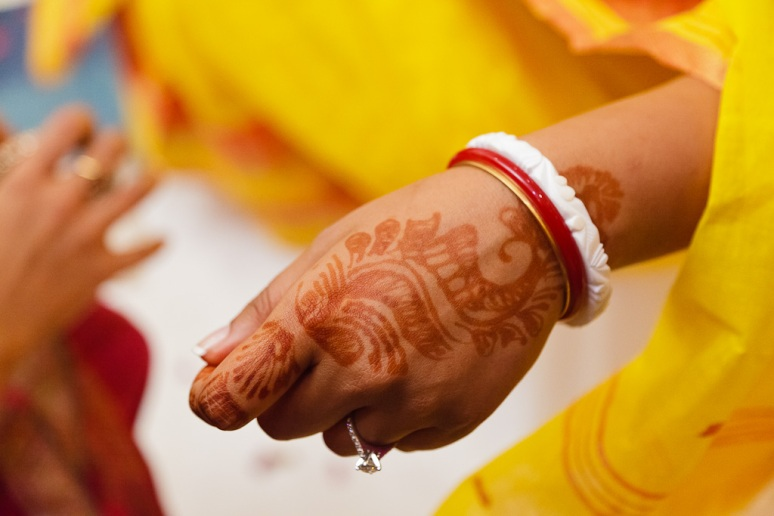 Indian Wedding Photographer Pooja Tumeric Ceremony Mehndi Hands New Delhi