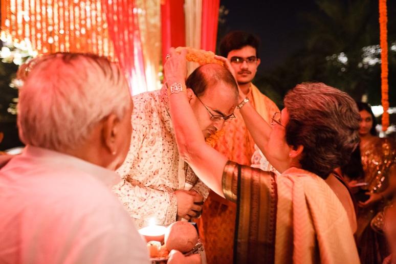 New Delhi Indian Wedding Photographer Grace Havlak Bride's Mother Welcoming Groom