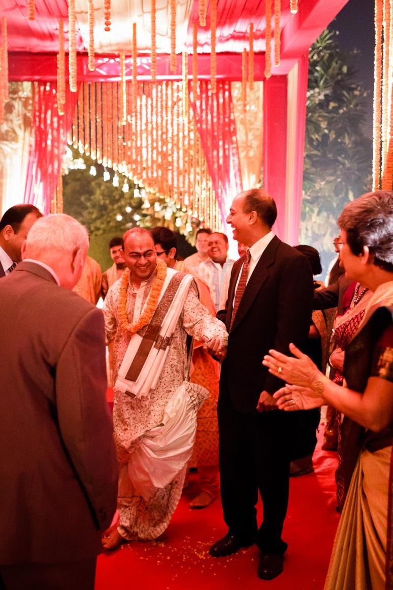 New Delhi Indian Wedding Photographer Grace Havlak Groom's Arrival