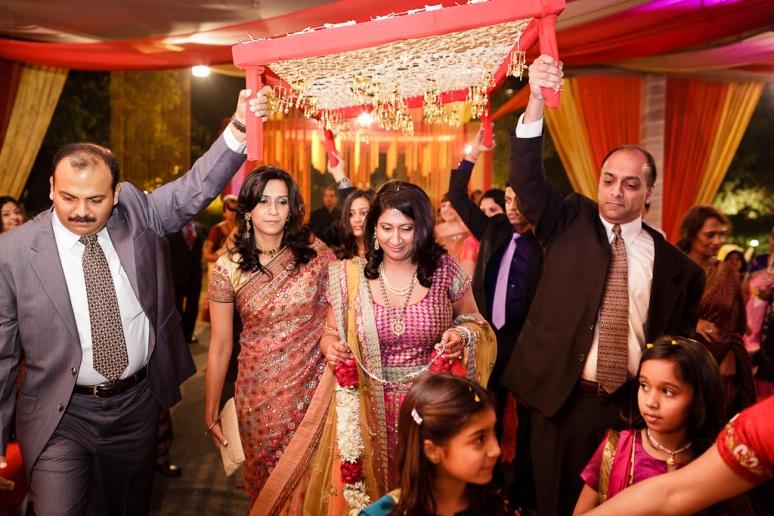 New Delhi Indian Wedding Photographer Grace Havlak Bride's Entrance