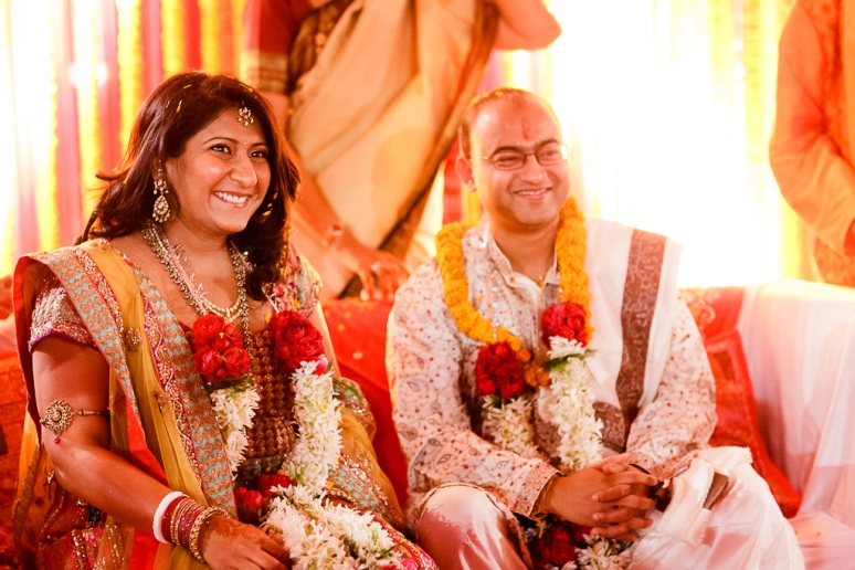 New Delhi Indian Wedding Photographer Grace Havlak Bride and Groom Smiling