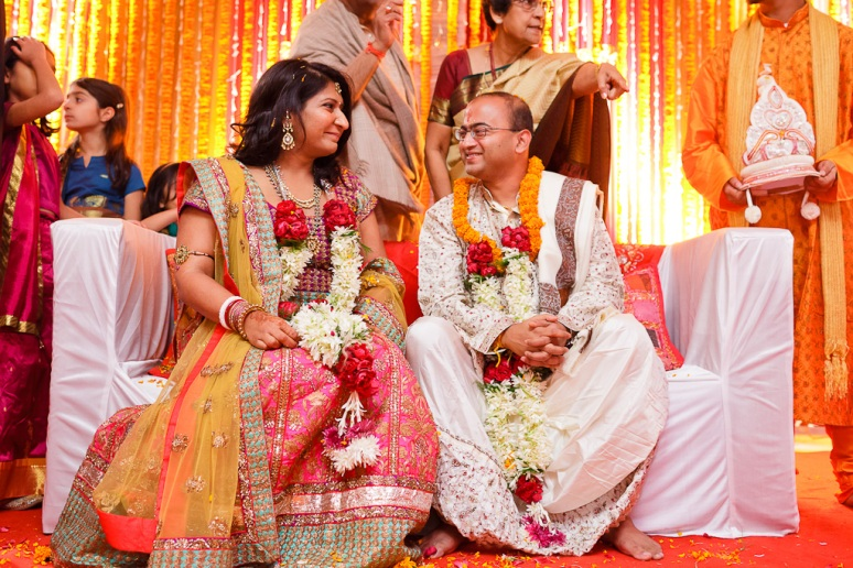 New Delhi Indian Wedding Photographer Grace Havlak Bride and Groom Looking at Each Other