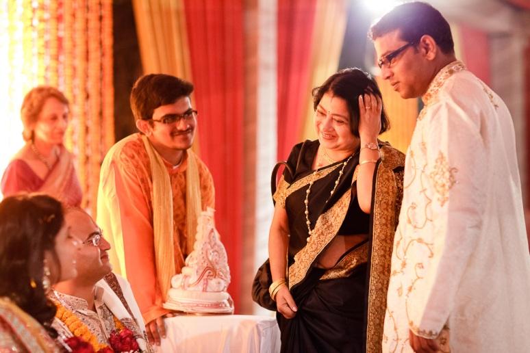 New Delhi Indian Wedding Photographer Grace Havlak Groom's Mother Smiling