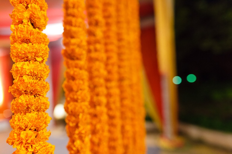 New Delhi Indian Wedding Photographer Grace Havlak Marigold Garlands