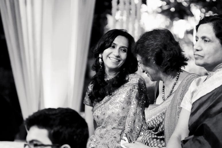 New Delhi Indian Wedding Photographer Grace Havlak Bride's Sister Laughing