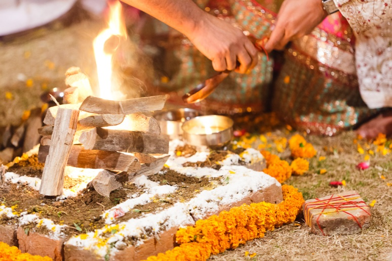 New Delhi Indian Wedding Photographer Grace Havlak Ceremonial Fire