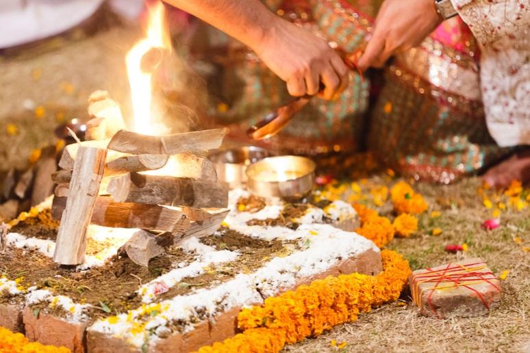 New Delhi Indian Wedding Photographer Grace Havlak Ceremonial Fire