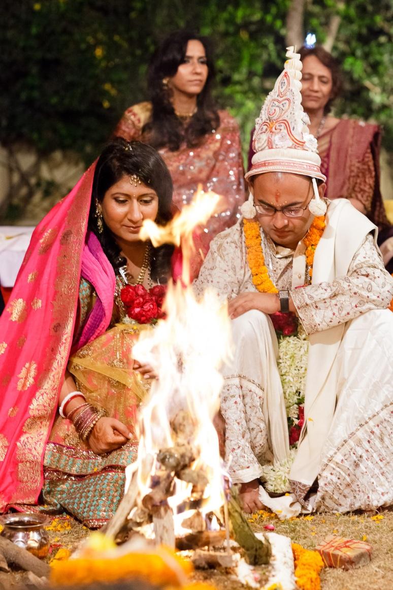 New Delhi Indian Wedding Photographer Grace Havlak Sacred Fire