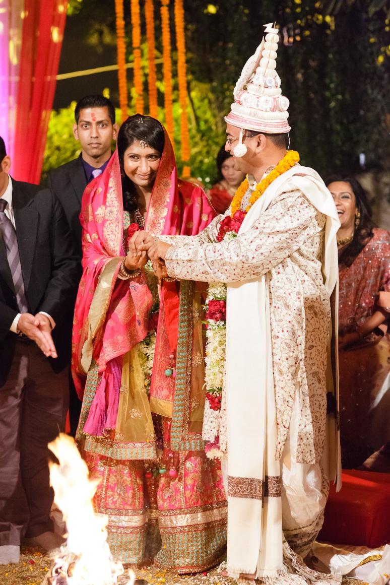 New Delhi Indian Wedding Photographer Grace Havlak Walking Around Fire