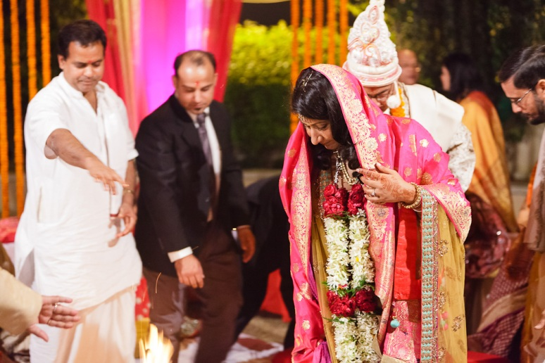 New Delhi Indian Wedding Photographer Grace Havlak Bride and Groom Circling Fire