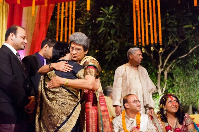 New Delhi Indian Wedding Photographer Grace Havlak Mothers Hugging