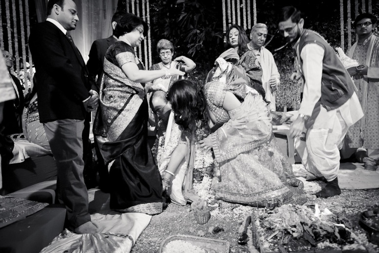 New Delhi Indian Wedding Photographer Grace Havlak Grooms Mother Blessing Bride